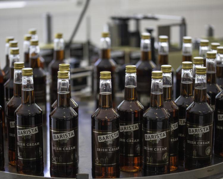 Barista Caramel Flasker På Rundbord